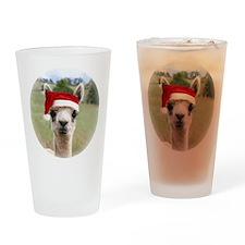 Sheba Alpaca at Christmas Drinking Glass