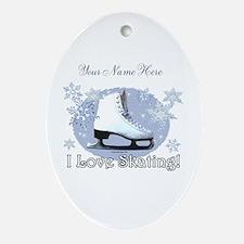 I Love Skating! Ornament (Oval)