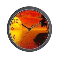Warm Tropics Wall Clock