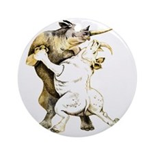 tango-rhino Round Ornament
