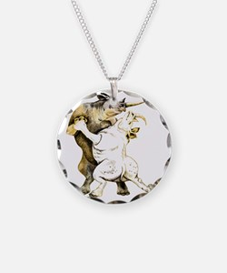 tango-rhino Necklace Circle Charm