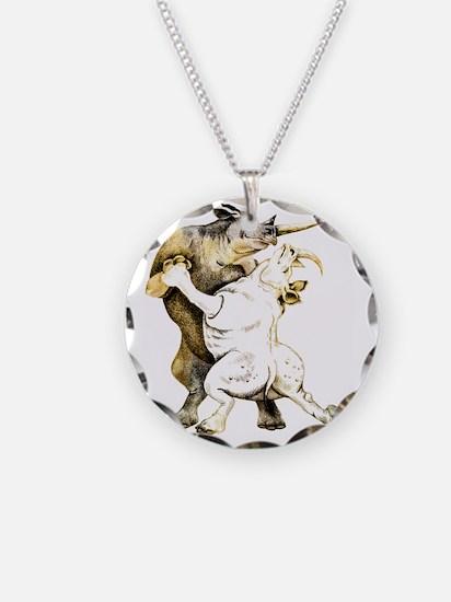 tango-rhino Necklace Circle Charm