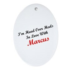 In Love with Marcus Oval Ornament