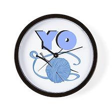 YO - Stitch Wall Clock