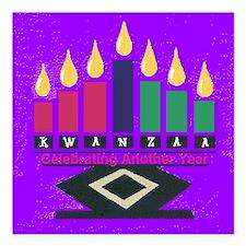 "Kwanzaa Square Car Magnet 3"" x 3"""