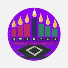 Kwanzaa Round Ornament