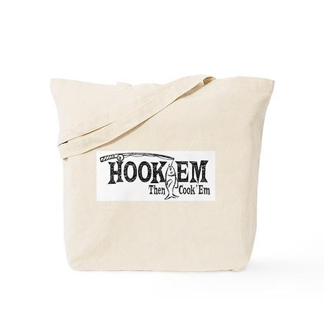 Hook'Em Then Cook 'Em Tote Bag