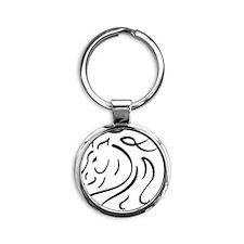 iphone4slider-horse Round Keychain