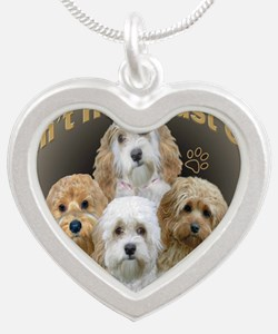 Cockapoo Cant Have Just One Silver Heart Necklace
