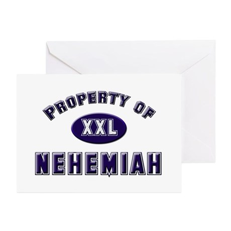Property of nehemiah Greeting Cards (Pk of 10)