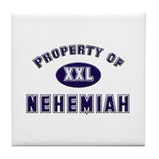 Property of nehemiah Tile Coaster