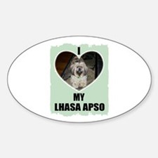 I LOVE MY LHASA APSO Oval Decal