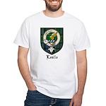 Leslie Clan Crest Tartan White T-Shirt