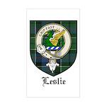 Leslie Clan Crest Tartan Rectangle Sticker