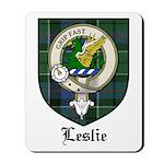 Leslie Clan Crest Tartan Mousepad