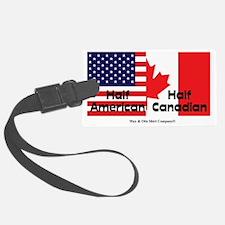 american-canadian-flag Luggage Tag