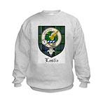 Leslie Clan Crest Tartan Kids Sweatshirt