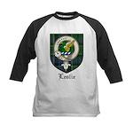 Leslie Clan Crest Tartan Kids Baseball Jersey