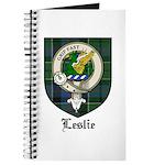 Leslie Clan Crest Tartan Journal