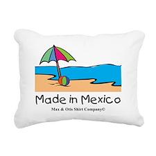 made-in-mexico-beach Rectangular Canvas Pillow
