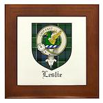 Leslie Clan Crest Tartan Framed Tile