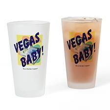 vegas-baby Drinking Glass
