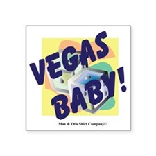 "vegas-baby Square Sticker 3"" x 3"""