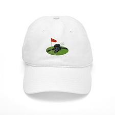 Black Lab Golfer Baseball Cap