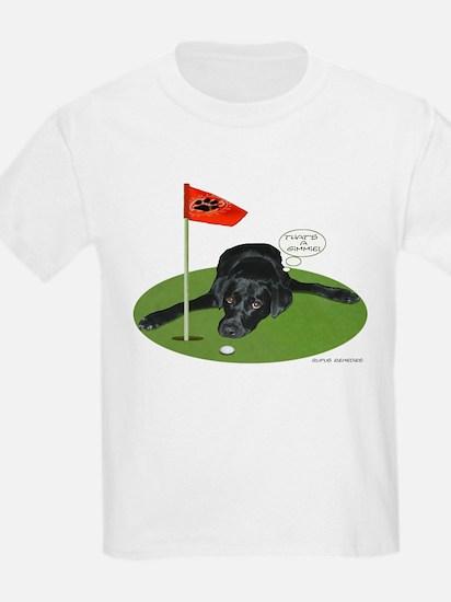 Black Lab Golfer Kids T-Shirt