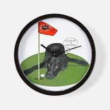 Black Lab Golfer Wall Clock