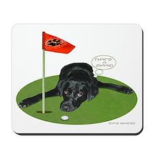 Black Lab Golfer Mousepad