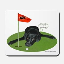 Black Lab Golfer Mousepad
