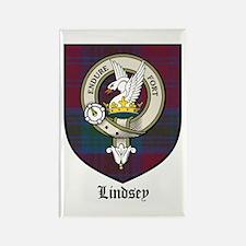 Lindsey Clan Crest Tartan Rectangle Magnet (10 pac