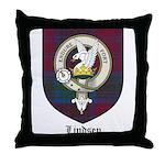 Lindsey Clan Crest Tartan Throw Pillow