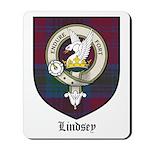 Lindsey Clan Crest Tartan Mousepad