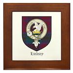 Lindsey Clan Crest Tartan Framed Tile