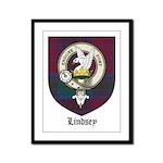 Lindsey Clan Crest Tartan Framed Panel Print