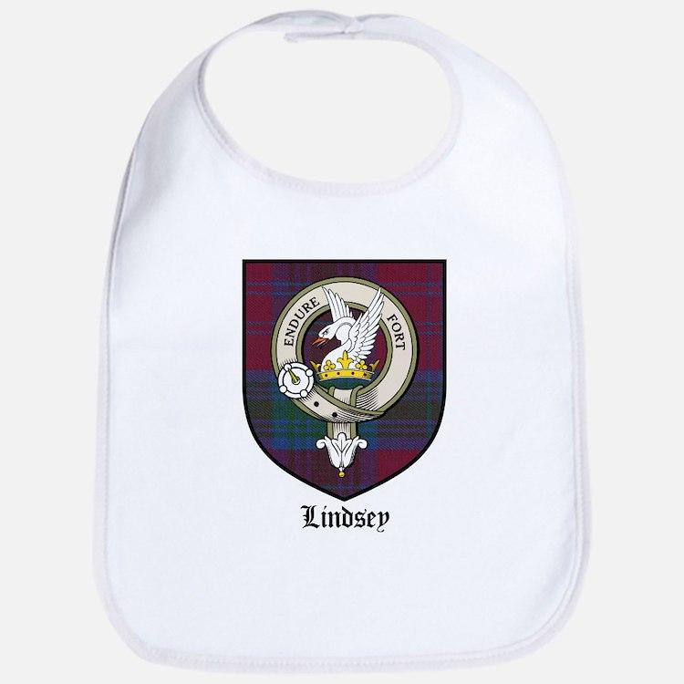 Lindsey Clan Crest Tartan Bib