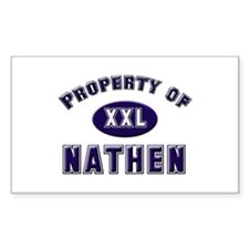 Property of nathen Rectangle Decal