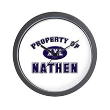 Property of nathen Wall Clock