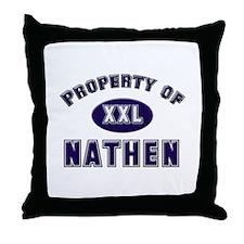 Property of nathen Throw Pillow