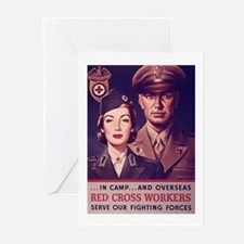 Red Cross Workers Greeting Cards (Pk of 10)