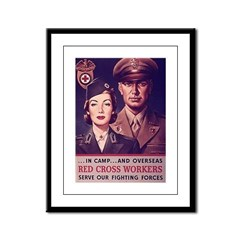 Red Cross Workers Framed Panel Print
