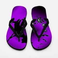 witch shadow bats Flip Flops