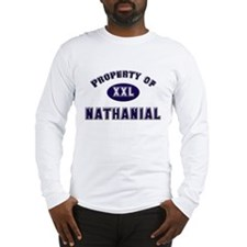 Property of nathanial Long Sleeve T-Shirt