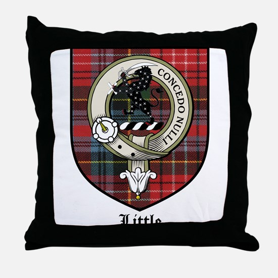 Little Clan Crest Tartan Throw Pillow