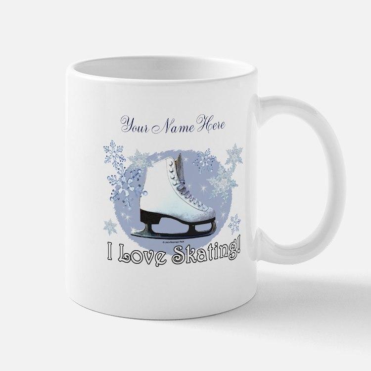 I Love Skating! Mugs