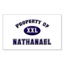 Property of nathanael Rectangle Decal