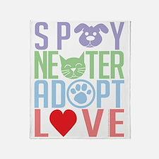 Spay-Neuter-Adopt-Love-2010 Throw Blanket