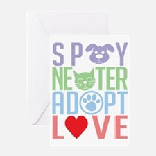 Spay-Neuter-Adopt-Love-2010 Greeting Card